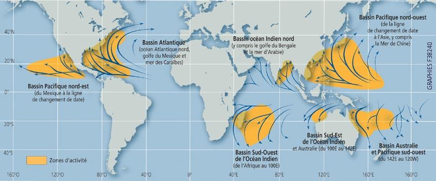 Tpe les cyclones tropicaux partie i vie d 39 un cyclone - Les 5 cyclones ...
